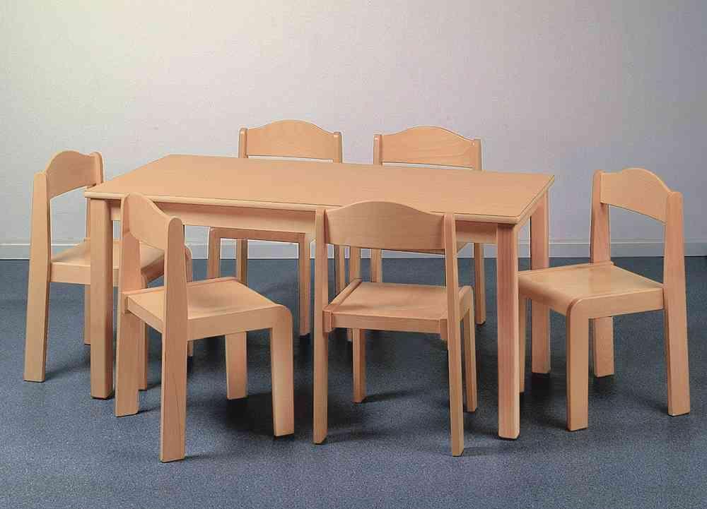 Kinder Tischgruppe Gross 6 Stühle Kindergartenqualität